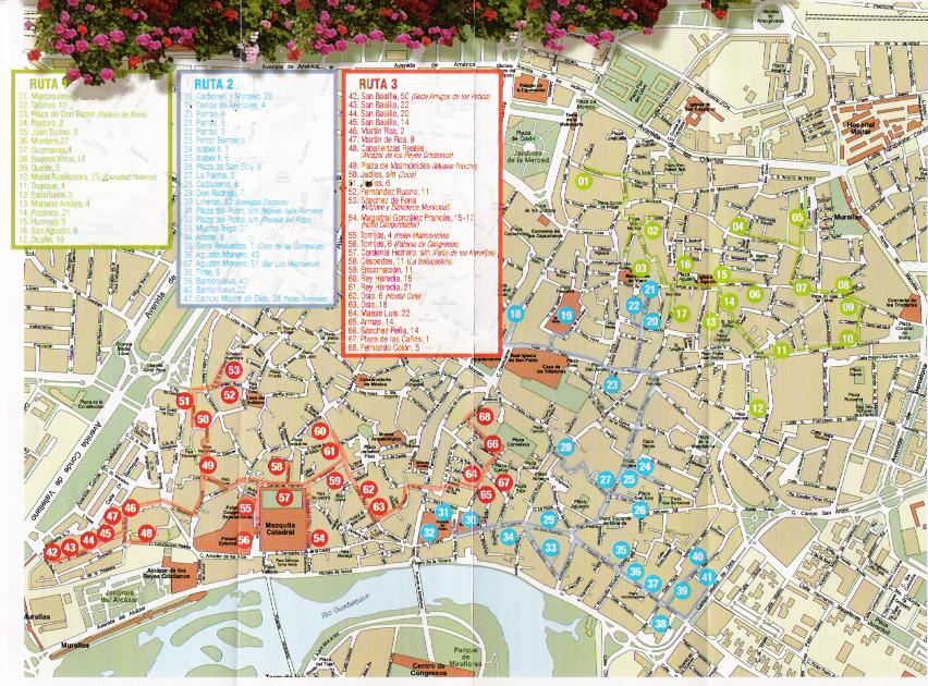 Cordoba Patio Festival 2005 Map – Tourist Map Of Cordoba Spain