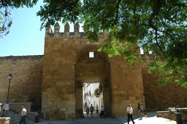 Puerta de Almodovar (Almodovar Gate) leading to north end of Cordoba's Jewish Quarter
