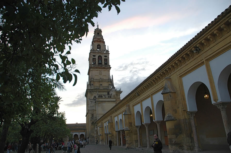 North side of Patio de los Naranjos of the Mosque - Cathedral of Cordoba Spain