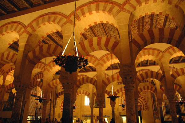 Ab al-Rahman II's section of Great Mosque, Cordoba Spain.