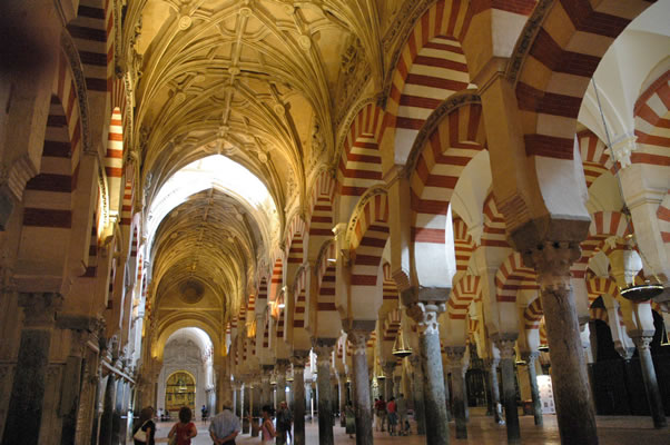 Christian and Islamic cultures in the Mosque-Cathedral of Cordoba Spain