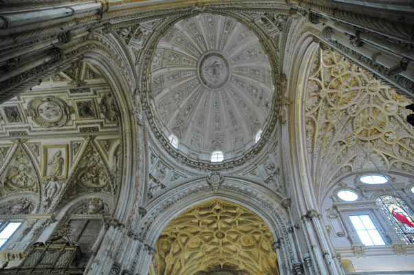 Dome over chancel in Cordoba Cathedral (Mezquita)
