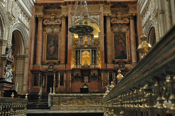 Renaissance high altar and sanctuary in Cordoba Cathedral