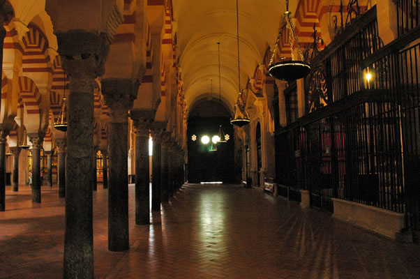 Eastern aisle of Great Mosque - Almanzor's section - Cordoba Spain