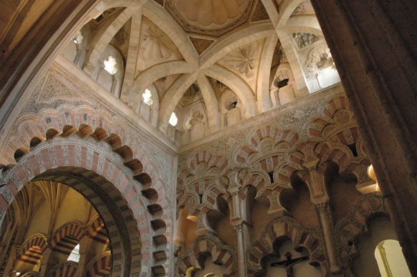 Islamic dome in Mosque of Cordoba - Villaviciosa Chapel