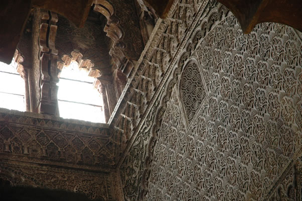 Mudejar decoration of Royal Chapel  in Cordoba Mosque
