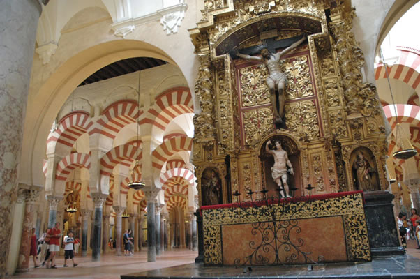 Photo album mosque cathedral of cordoba spain altar for Interior mezquita de cordoba
